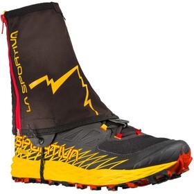 La Sportiva Winter Running Gaiters black/yellow